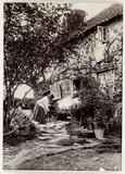 Cottage garden, c 1890.