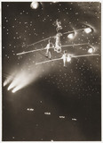 Tightrope walkers, c 1930.