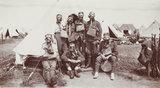 British soldiers wearing gas masks, 1917.
