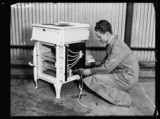 Wiring an electric stove, 1932.