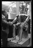Shaking hands with 'The Monster Robot', 1932.