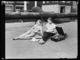 Two women sunbathing, 1932.
