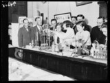 School chemistry demonstration, London, 25 October 1932.