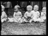 Babies at a summer fete, 1933.