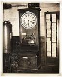 Clocking on machine, 1949.