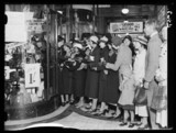 First day of the sales in Quin & Axtens, Brixton, October 1934.