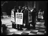 Pensioners protesting, 1938.