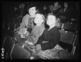 Family watching a circus rehearsal, 1938.