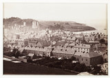 'Carnarvon Castle, View From Twt Hill', c 1880.