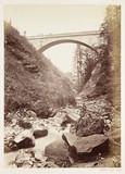 Alpine bridge, c 1865.
