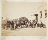 'The Lieutenant Governor of the Punjaub Camel Carriages', c 1865.