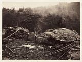 Breastworks on Little Round Top Hill, Gettysburg, Pennsylvania, 3 July 1863.