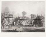 'Dakotan Village', North America, 1847.