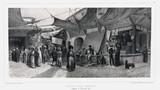 The old fishmonger's bazaar, Smyrna, Turkey, 10 November 1837.