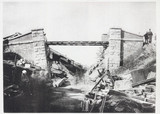 Biwajima Railway Bridge after the earthquake, Japan, 1891.