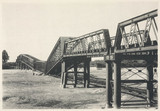 Nagara Gawa Railway Bridge after the earthquake, Japan, 1891.