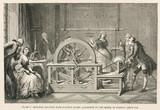 Electrostatic machine with sulphur globe, c 1750s.