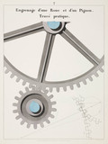 """Gear with cogwheels, 1856."""