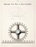 """""""Rack-and-pinion gear, 1856."""""""