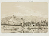 Zinc warehouses on the Seine, la Roche-Guyon, France, 1855.