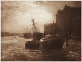 'The Thames Below London Bridge', c 1900.