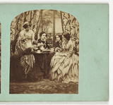 Taking tea, c 1870.