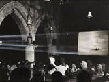 Film show in a church, 1941.