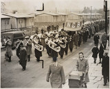 Ollerton Colliery bras band, Nottinghamshire, 1947.