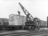 Container at St Pancras goods yard, London, 1933.