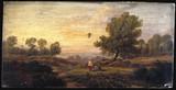 'Balloon over Woodland', c 1840.