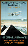 Imperial Airways travel poster, 1924.