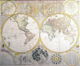 Astronomical and geographic map, 1781.