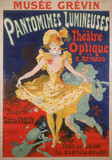Poster for a moving picture show, France, 1898.