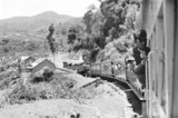 Passenger train on the Nilgiri Railway, India, c 1966.