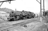 Garratt locomotive and freight train, New South Wales, Australia, 1970.
