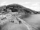 Beach on the Cornish coast, 1922.
