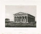 'Temple Hypethre de Pestum', c 1841.