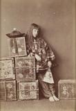 Xie Kitchin as Chinese tea merchant, c 1876.