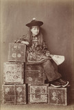 Xie Kitchin as Chinese tea merchant, c 1876.
