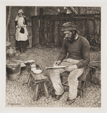 'A Fisherman At Home', 1887.