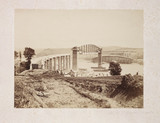 'Saltash Bridge Under Construction', 1858.