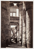 'Interior of the hall of columns, Karnak', c 1858.