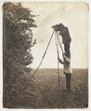 Richard and Cherry Kearton taking a photograph of a bird's nest, 1900.