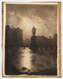 Statue in Trafalgar Square, c 1898.