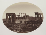 The Erectheon, showing  relative position to the Parthenon, Athens, 1849 to 1850.