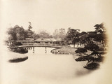 Part of a tycoon's garden at Edo (Tokyo), c.1877.