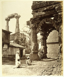 Ruins of the Rudra Mahalaya at Siddhpur, Gujarat, c 1860s.