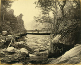'Bridge over Rungoo below Ging', c 1900.