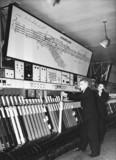 New signal box, Heaton Norris, Cheshire, 1955.