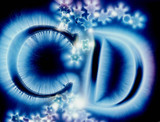 Kirlian photograph of the letters C and D.